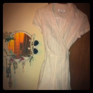Isaac Mizrahi Dresses & Skirts - White eyelet dress NWOT never worn wrap dress
