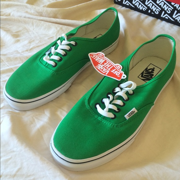 f8ce9e1384b995 Authentic Bright Green Black Vans 10.5 Men s
