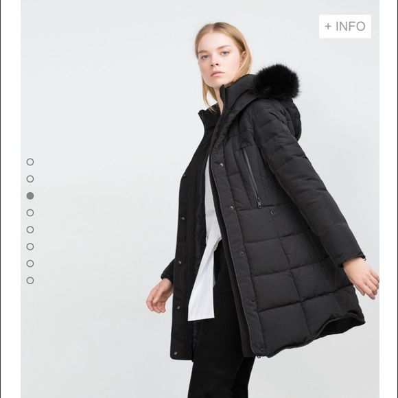 10% off Zara Jackets & Blazers - Long Quilted Coat with Detachable ... : long black quilted coat - Adamdwight.com