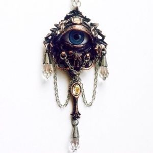 Alchemy Jewelry - In the Forrest-Magickal Boho Ent Eye Pendant