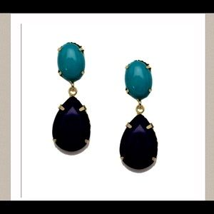 T&J Designs Jewelry - Turquoise & Navy Teardrop Earrings🎉4XHP🎉