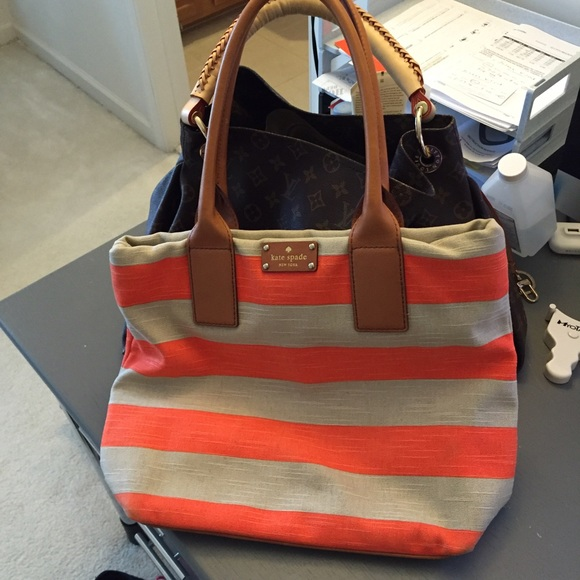 Kate Spade Canvas Tote with Leather Handles ad442b8554e3b