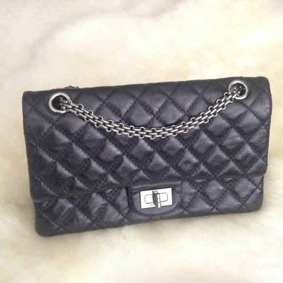 7e209b9693ac CHANEL Bags   Black Glazed Calfskin Reissue Flap   Poshmark
