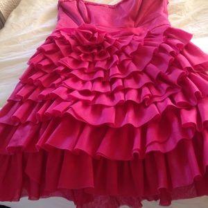 Betsy Johnson strapless raffle dress size 6