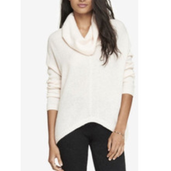 41% off Express Sweaters - Express winter White Cowl Neck Sweater ...