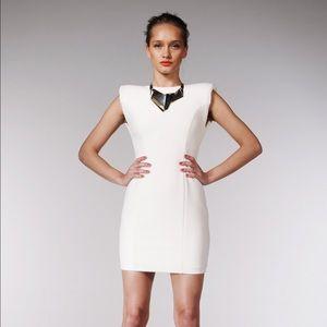 Aqua Dresses & Skirts - Aqua Shoulder Pad Panelled Low Back Dress