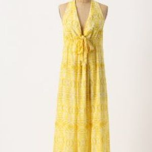 Anthropologie anthropologie lil yellow maxi dress from for Anthropologie mural maxi dress
