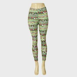 Pants - Aztec Pattern Printed Leggings