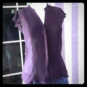 Butterfly short sleeve blouse