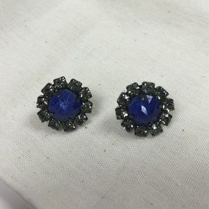 Elizabeth Cole Jewelry - Elizabeth Cole large lapis stud earrings