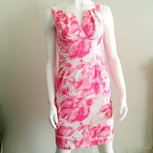 Pink Sleeveless Scrunch Dress with Back Vent