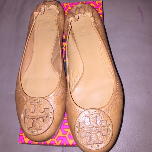 **SOLD on ebay*** Tory Burch reva tan shoes 10