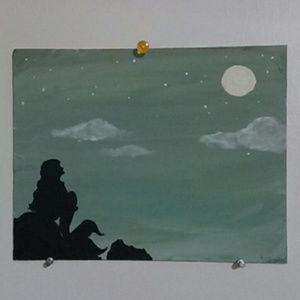 "Canvas painting ""a mermaid's wish"""
