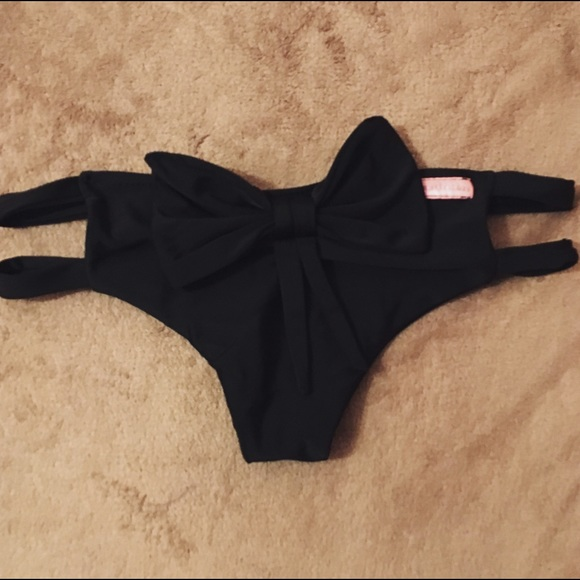 a727692ccd Cheeky Black Bow Bikini Bottoms. M_568b0fdc56b2d647a80094b6