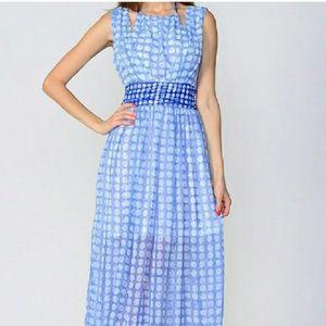 Polka Dot Dress Maxi Dress, Moon Collection
