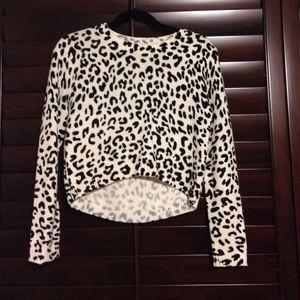 a cheetah print sweater