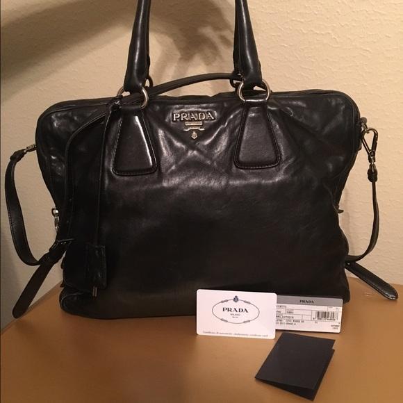 27efe18107ae Prada Bags | Authentic Black Handbag With Double Handles | Poshmark