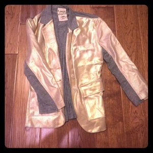 Laugh Cry Repeat Jackets & Blazers - Metallic and Grey Blazer from Laugh Cry and Repeat