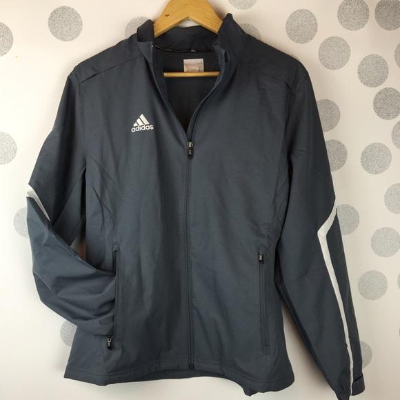 87% off Adidas Jackets &amp Blazers - ADIDAS women&39s gray windbreaker