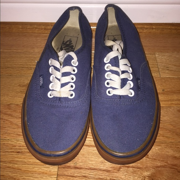 496c3fe1f8cdf6 Unisex Blue VANS With Brown Sole. M 568b596015c8afd91c0a6152