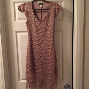 Venus Dresses - Metallic Crochet Dress