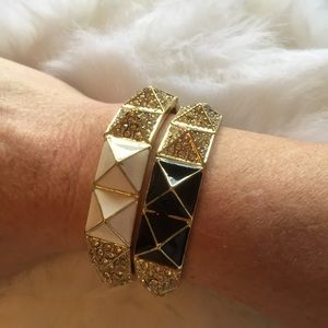 T&J Designs Jewelry - WHITE PYRAMID BRACELET