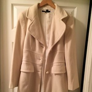 Zara cream colored pea coat