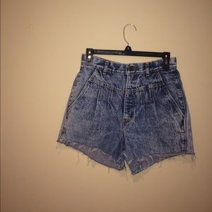 Vintage High Waisted Acid Denim Shorts