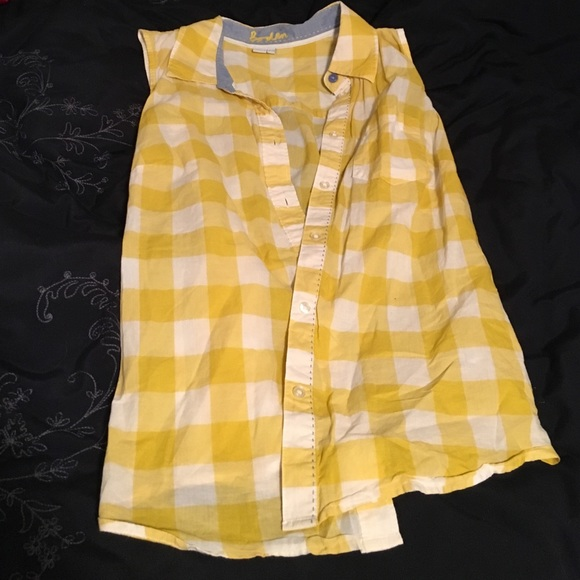 73 off boden tops boden yellow checkered plaid tank top for Boden yellow