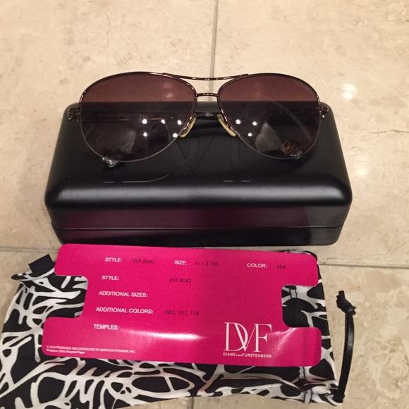 f976c4d1b2 Diane von Furstenberg Accessories - DVF brandy aviator sunglasses gently  worn.