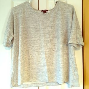 Forever 21 Gray Striped Tee