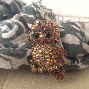 Jewelry - Rhinestone Owl Bracelet