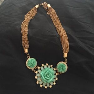 Jewelry - Mint green statement necklace 💄