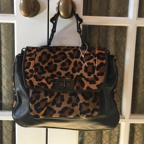 34bd7fb5f1d8 Lyst Rebecca Minkoff Crossbody Love Leopard Calf Hair