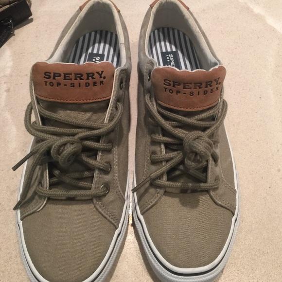 sperry men's canvas shoes
