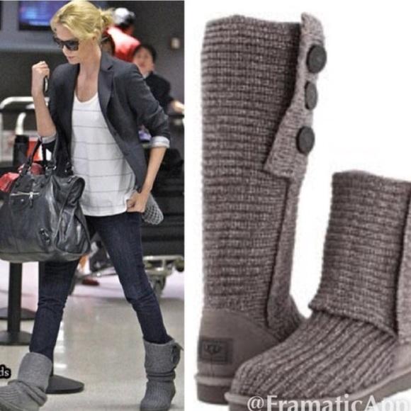 charcoal grey ugg boots
