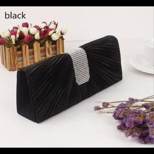 Handbags - Black Rhinestone Evening Clutch Purse