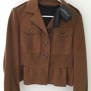 Burberry Prorsum Peplum Trench Jacket
