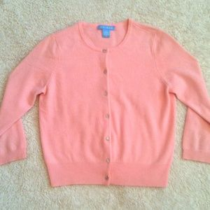 White + Warren Sweaters - 100% Cashmere // Pink Cardigan