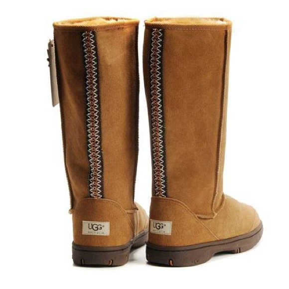 Ugg Chestnut Ultra Tall Braid Detail size 5