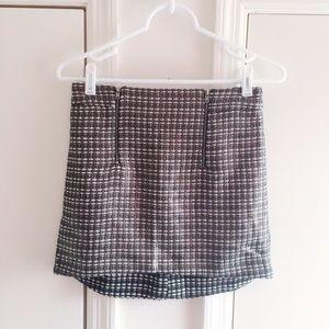 Topshop Metallic Moto Zipper Skirt