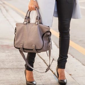 SHE+LO gray handbag