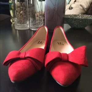 14th & Union Shoes - NEW Red Suede Flats