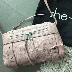 Never worn SHE+LO rose pink handbag