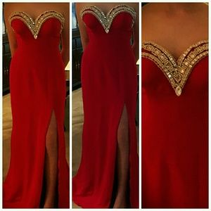 Couture Strapless Gown with Swarovski Crystals