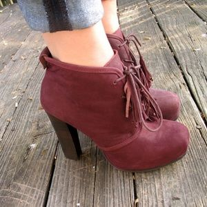 Steve Madden Shoes - Dark Plum Platform Booties