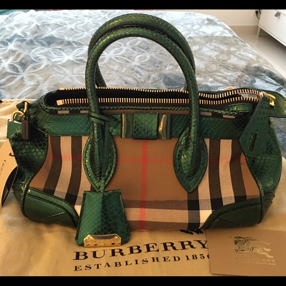 Burberry Handbags - Burberry Prorsum The Blaze Bag with Python trim 30a90d2fa6771
