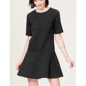 LOFT Quilted Flippy Dress