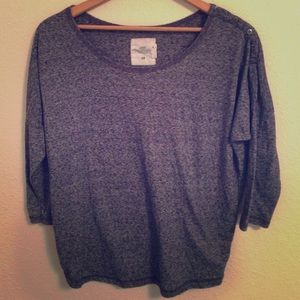 H&M grey marled off on shoulder with buttons M