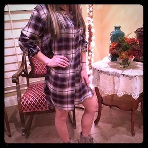 Tops - Plaid Shirt Dress